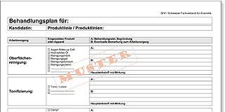 Sfk Behandlungsplan Für Frau Sfk Schweizer Fachverband Für Kosmetik